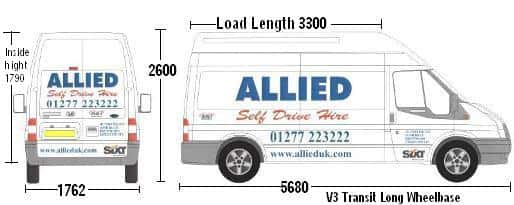 Van Hire Chelmsford >> V3 Transit Long Wheel Base High Roof | Allied Vehicle Rentals